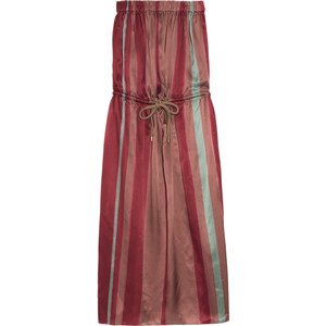 Lanvin Striped Silk Dress