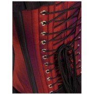 red corset-