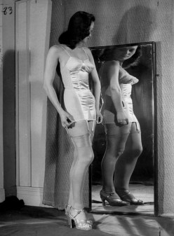 A Girl Looking At Herself