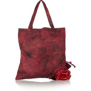 Valentino Rose Printed Twill Shopper