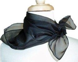 Black Silk Scarf