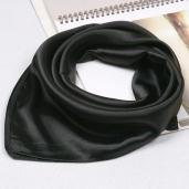 black-small-silk-scarf