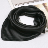black-small-silk-scarf
