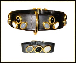 Couture BDSM wristband and collar