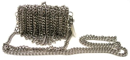 Maiden Art Silver Fringes Clutch Bag