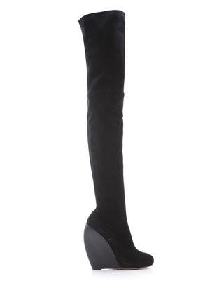 Azzedine Alaia Thigh High Boots Wedge