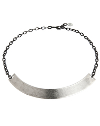 Gemma Redux Oxidized Silver Armor Collar