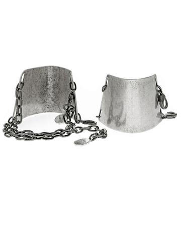 Gemma Redux Oxidized Silver Urban Armor Ankle Cuffs