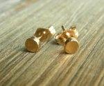 Gold Stud Earrings Tiny Dots