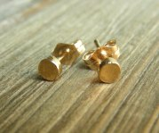 Gold Stud Earrings Tiny Dots