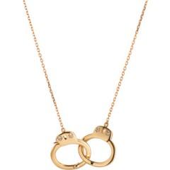 Jack Vartanian Diamond Gold Handcuff Necklace