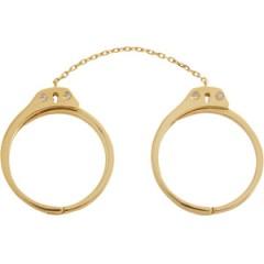 Jack Vartanian Diamond Gold Handcuff Ring