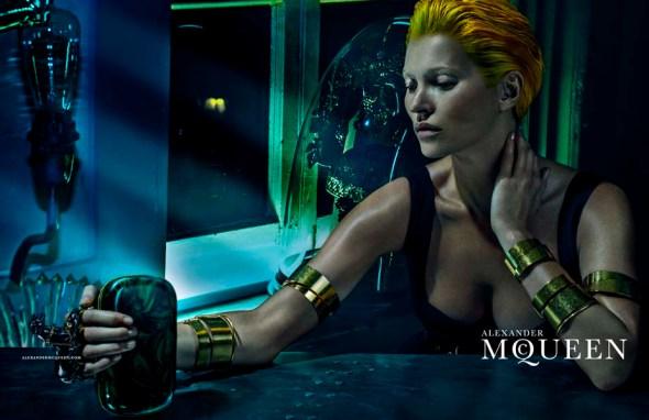 Kate Moss Alexander McQueen 2014 Cuffs and Clutch