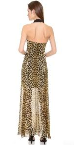 Nicholas Jungle Leopard Gown Black