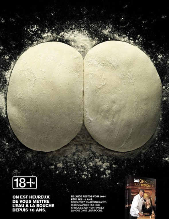 Risque Canadian Food Ad Butt Cheeks