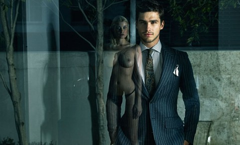 SuitSupply nude reflection