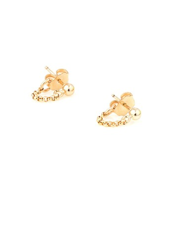 Vanessa Mooney ball and chain earrings