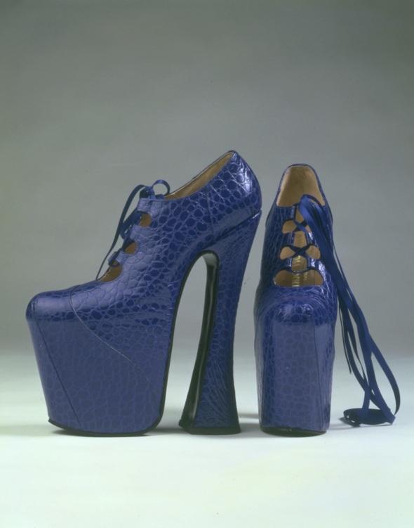 Vivienne Westwood Blue Platform Shoes