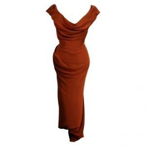 Vivienne Westwood Draped Vintage corset Dress in rust