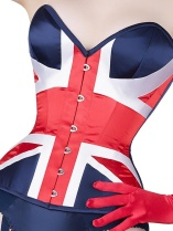 WhatKatieDid union jack corset