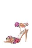 Brian Atwood Snakeskin Embellished Sandals