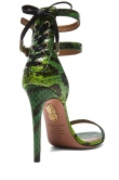 Aquazzura Saharienne Elaphe Snakeskin Heels