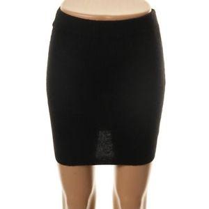 Cashmere Knit Skirt Black