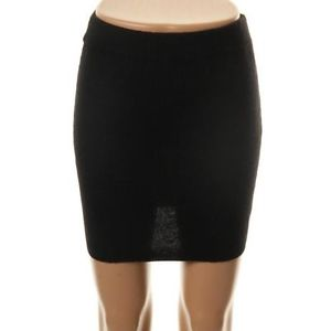 Black Cashmere Knit Skirt