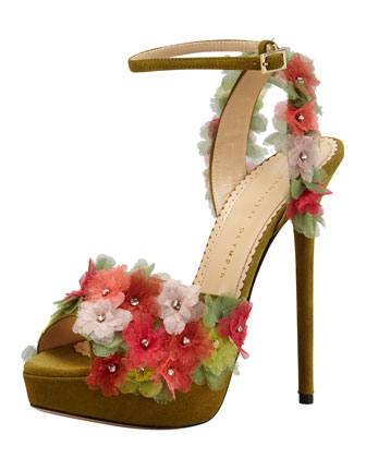 Charlotte Olympia Flower Heels