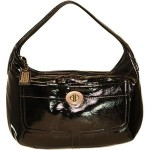 Coach Ergo Large Black Patent Leather Bag