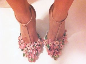 DIY Floral Heels
