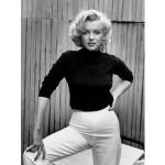 Marilyn Monroe Black CashmereTurtleneck