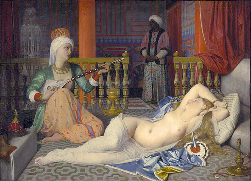 Odalisque with a slave Jean Auguste Dominique Ingres 1842