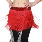 Red Fringe Belly Dancing SkirteBay