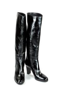 Sergio Rossi Black Patent Leather Boots
