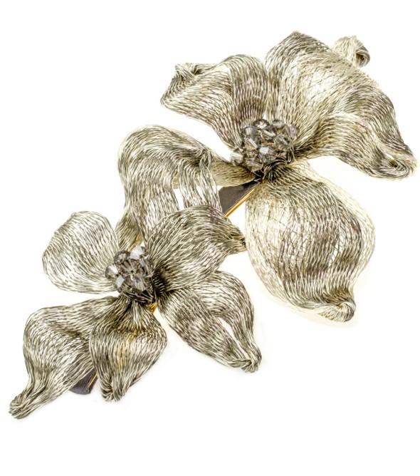 colette malouf-Platinum_Silver-barette