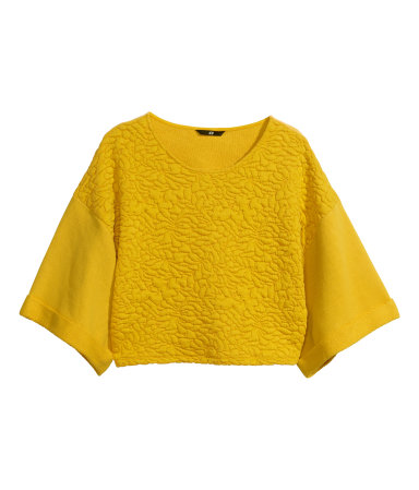 H and M quilted crop top sweatshirt
