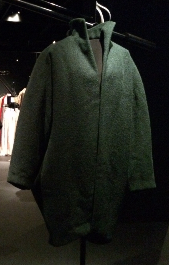 Charles James Green Wool Coat Cropped