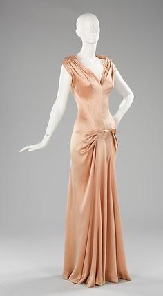 Charles James Peach Silk Dress