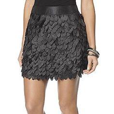 Sears Kardashian Kollection Black Petal Skirt