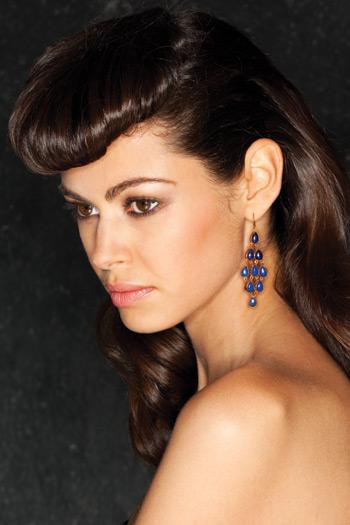Wendy Mink Lapis Chandelier Earrings