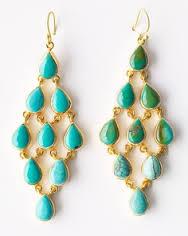 Wendy Mink Turquiose Chandelier Earrings