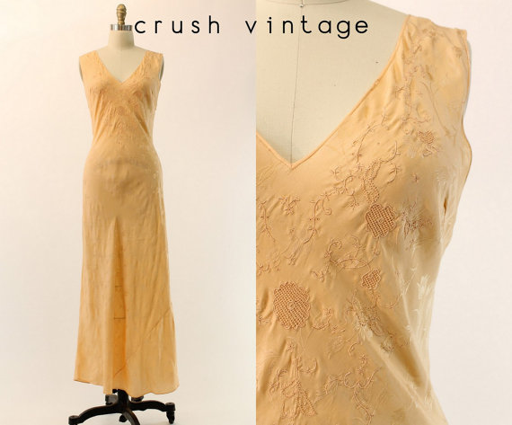 1940s Silk Nightgown M 1940s Bias Cut Nightgown The Fairytale Gown