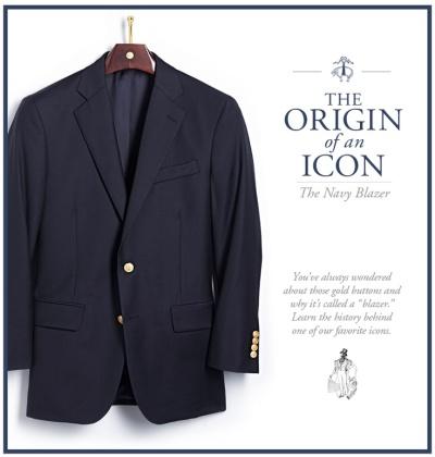 Brooks Brothers Navy Blazer Icon Ad