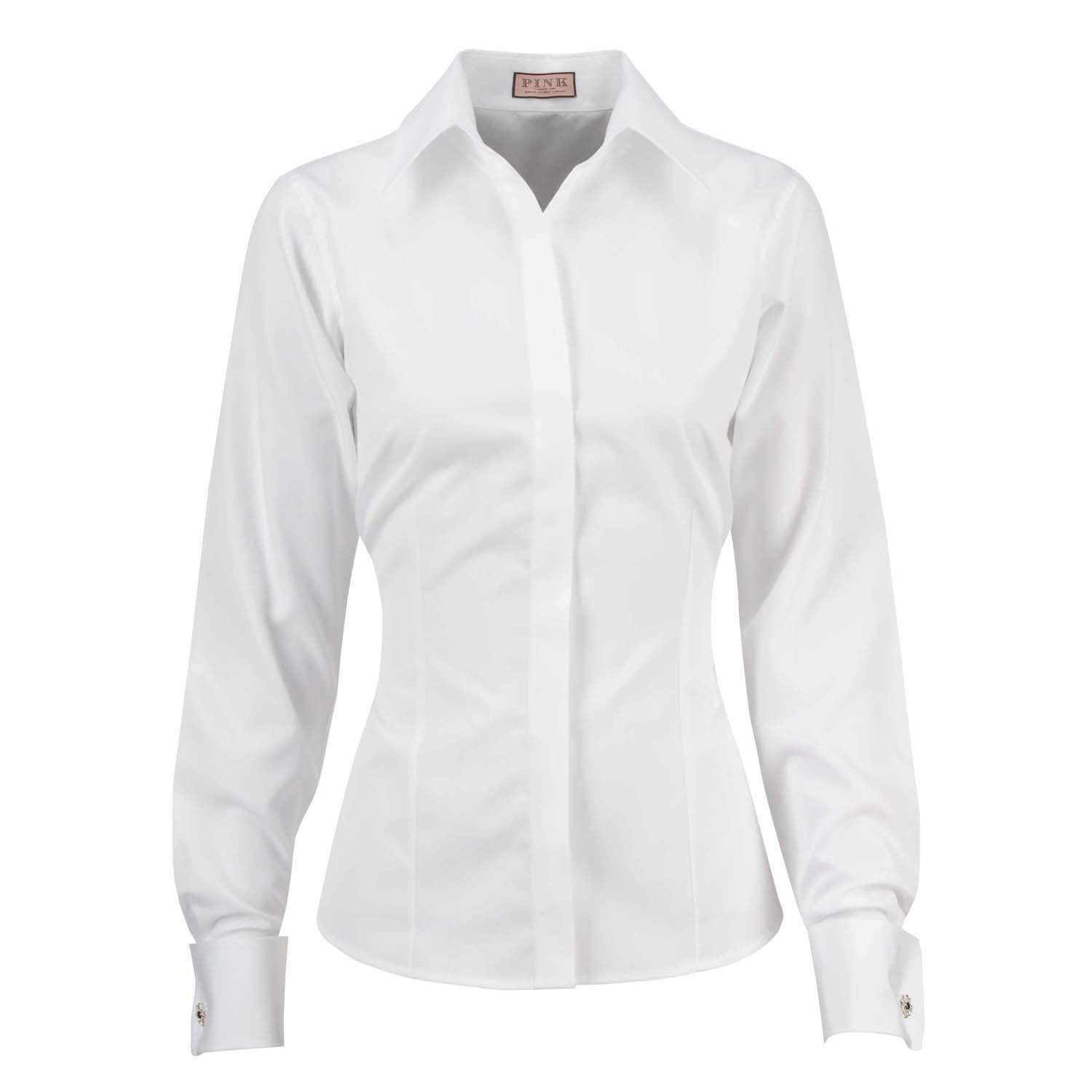 She means business dievca for Womens white button down shirt