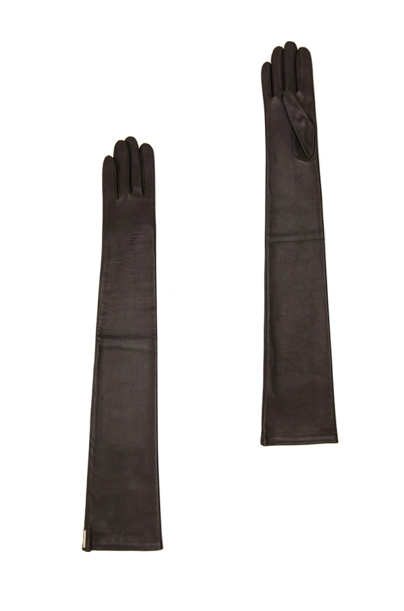 Givenchy Long Black Nappa Leather Gloves $710.00