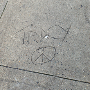 Tracy Peace Sign