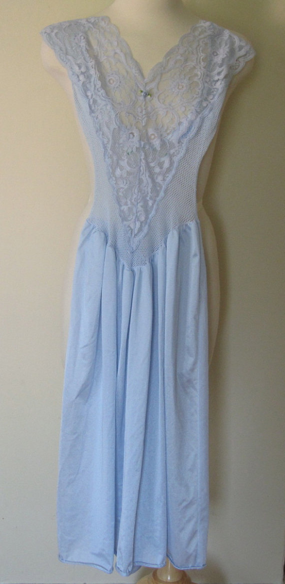 Vintage Baby Blue Nightgown Dress