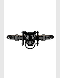 Givenchy by Riccardo Tisci patent panther belt in black