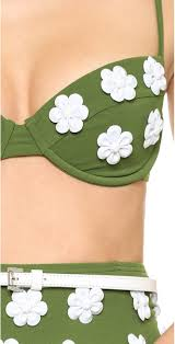 Michael Kors Collection Garden Club Solids Bikini Detail